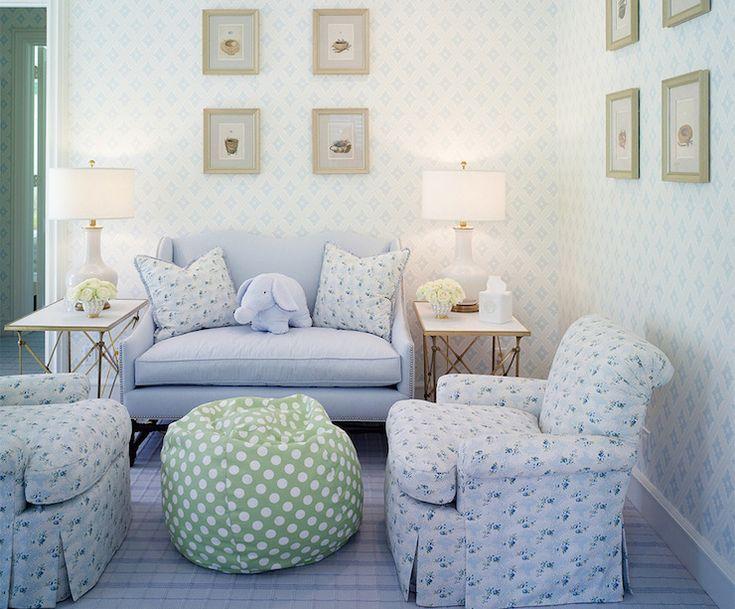 Blue Settee, Transitional, nursery, Kirsten Kelli