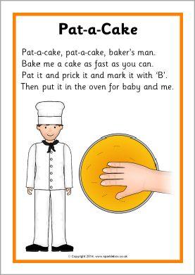 Pat-a-Cake rhyme sheet (SB10918) - SparkleBox