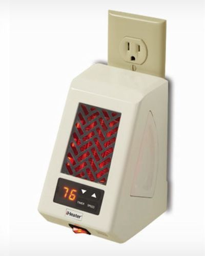Space heater wall mount outlet infrared ultra portable heats up to 250 sq feet decorative and - Small room space heater decor ...