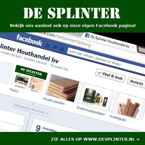 Facebook van De Splinter bv    www.desplinter.nl  www.houtenpanelen.nl