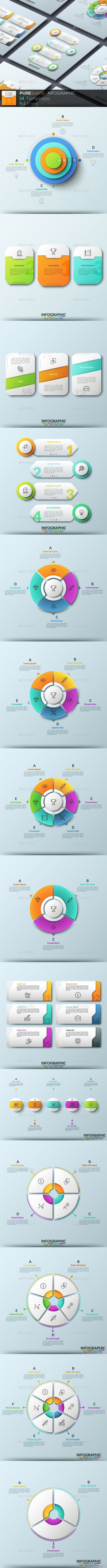 Pure Shape Infographic. Set 12 - #Infographics