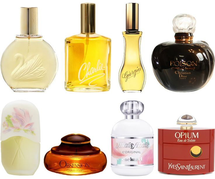 Re-live the 80s through these totally awesome perfume commercials for some of our favorites 80s perfumes, including, Gloria Vanderbilt, Charlie, Giorgio, Poison, Le Jardin, Obsession, Anais Anais, and Opium. http://www.liketotally80s.com/2011/07/80s-perfume/
