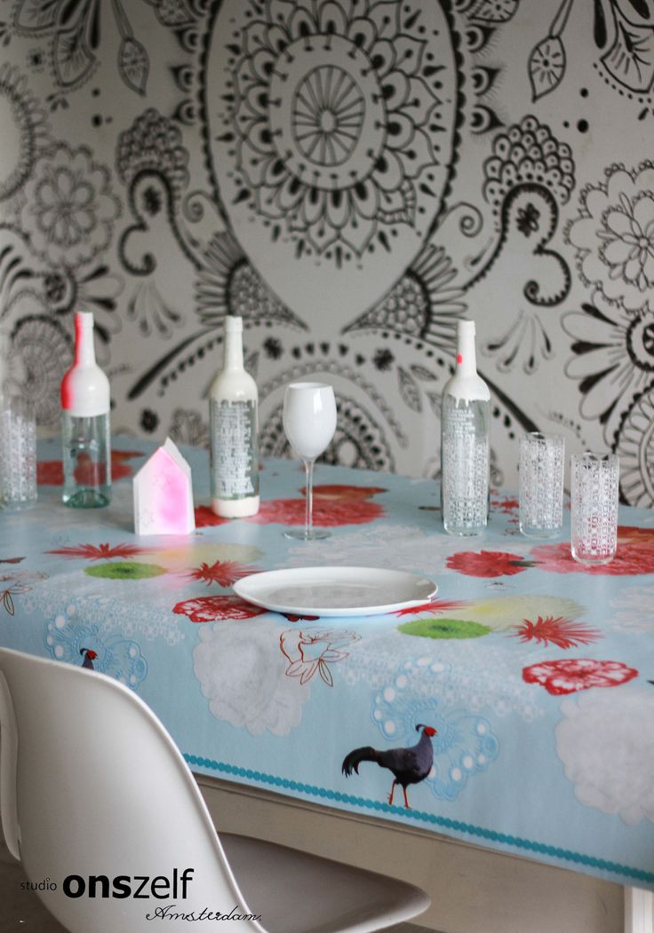 Onszelf Tablecloth OZ8032, Wallpaper Collection LOFT OZ3718