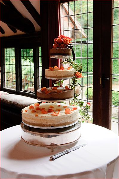 Cheesecake wedding cake... what could be better?