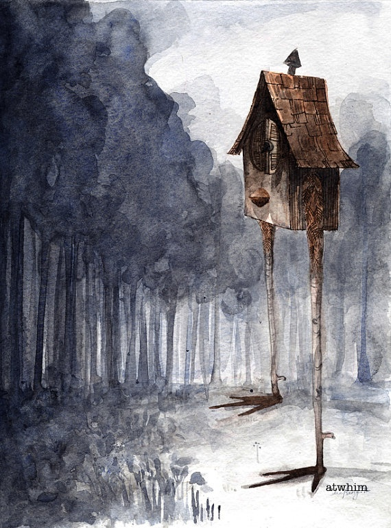 Baba Yaga's House Grew Tall  An Original by atwhim on Etsy