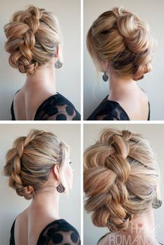 Lovely Braided Updo Hairstyle: The Braid-Hawk - Hairstyles Weekly