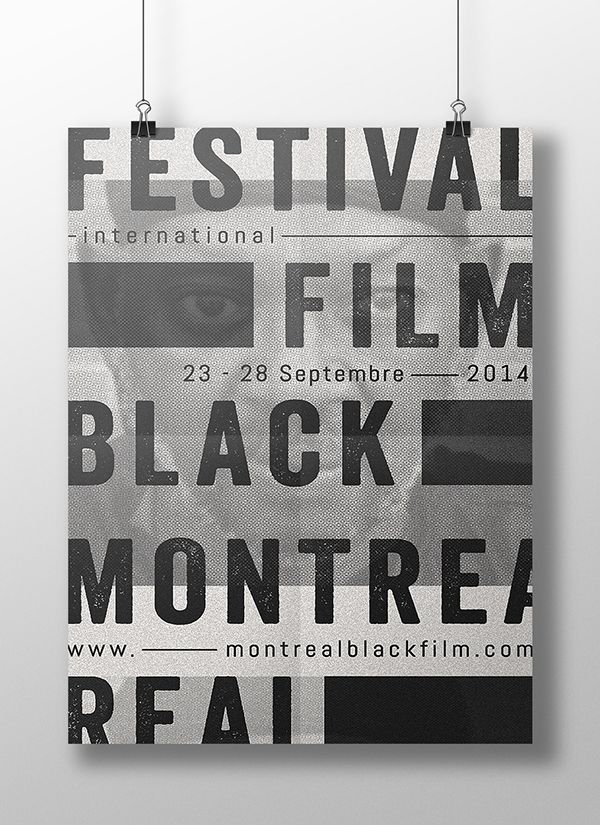 poster | Montreal International Black Film Festival 2015 by Sarah Dufour #typography