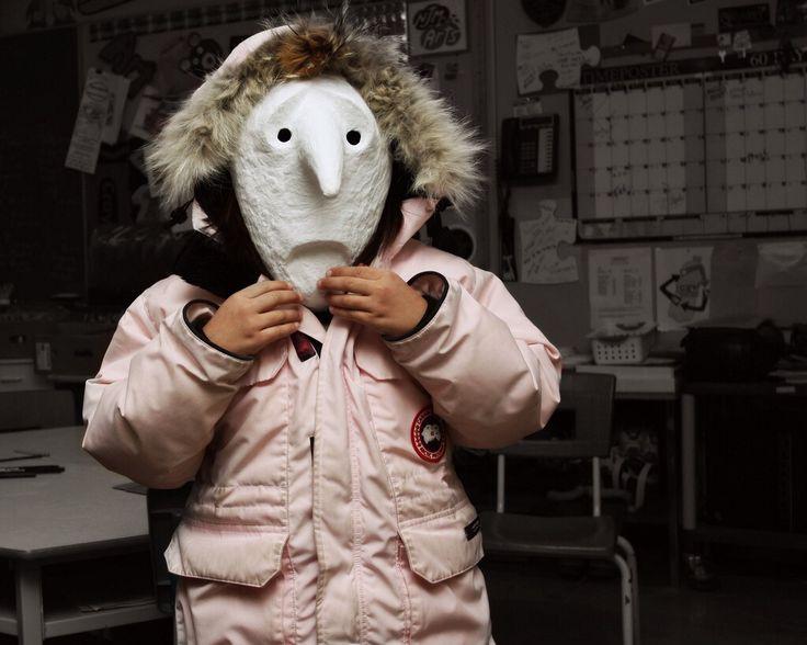 Pink parka larval mask
