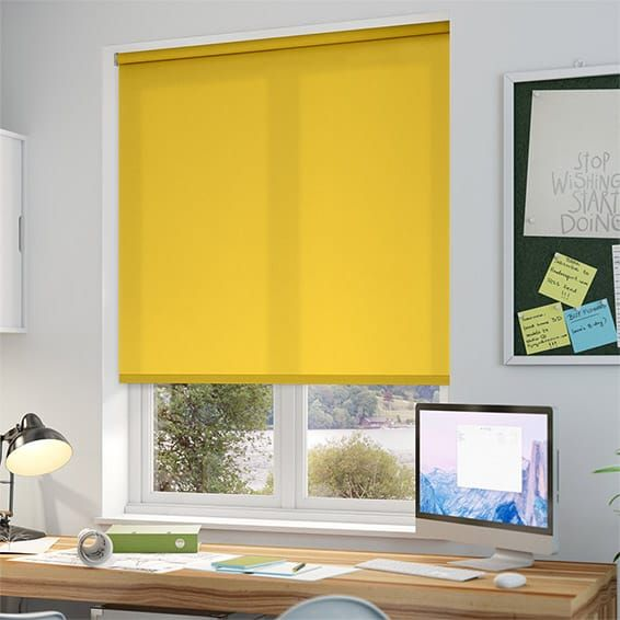 valencia neon yellow roller blind - Kitchen Blinds Ideas