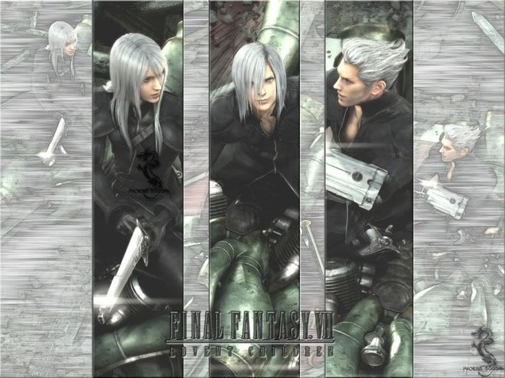 Kadaj, Loz, and Yazoo - FFVII: Advent Children (Did it freak anyone else out when Kadaj said Mother? Tell me I'm not the only one XD)