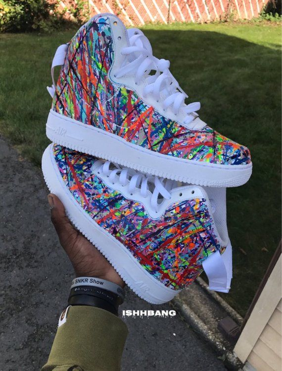 cdcd5b58228f6f Customized Custom Nike Air Force 1 Highs Splatter. Customized Custom Nike  Air Force 1 Highs Splatter Rainbow Sneakers