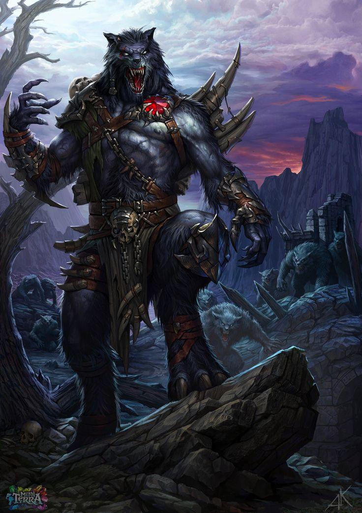 werewolf Vinfor by Kuzinskiy.deviantart.com on @deviantART ... Werewolf Warrior Art