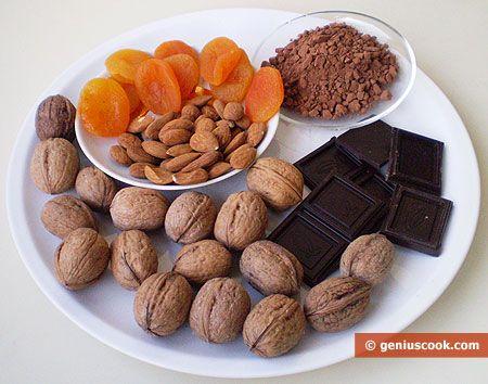 Рецепт домашних шоколадных конфет с орехами