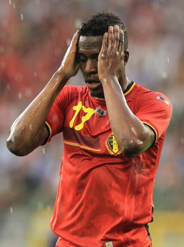 Belgium's Divock Origi reacts during a friendly soccer match against Tunisia, at the King Baudouin stadium in Brussels, Saturday, June 7, 2014. Belgium will play against South Korea, Russia and Algeria in Group H of the World Cup 2014 in Brazil
