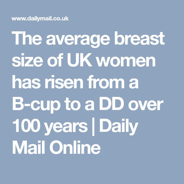 The average breast size of UK women has risen from a B-cup to a DD over 100 years | Daily Mail Online