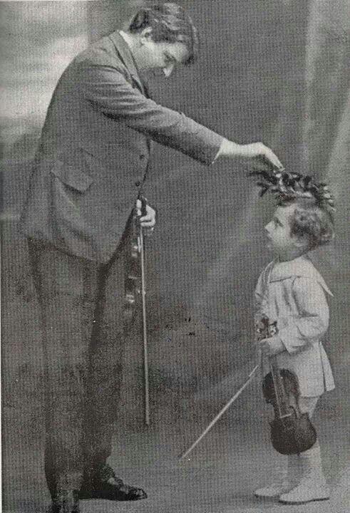 Dinu Lipatti a 4 anni col nonno di Enescu