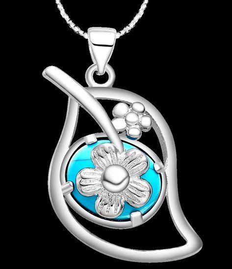 https://www.goedkopesieraden.net/925-Sterling-zilveren-ketting-met-blaadje-en-turquoise-steen