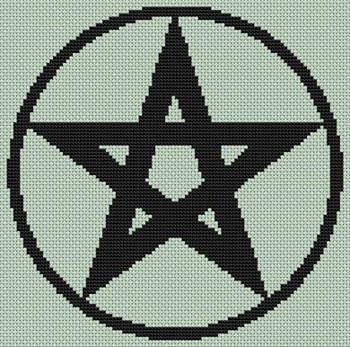 PENTACLE CROSS STITCH PATTERN | Online Cross Stitch Patterns