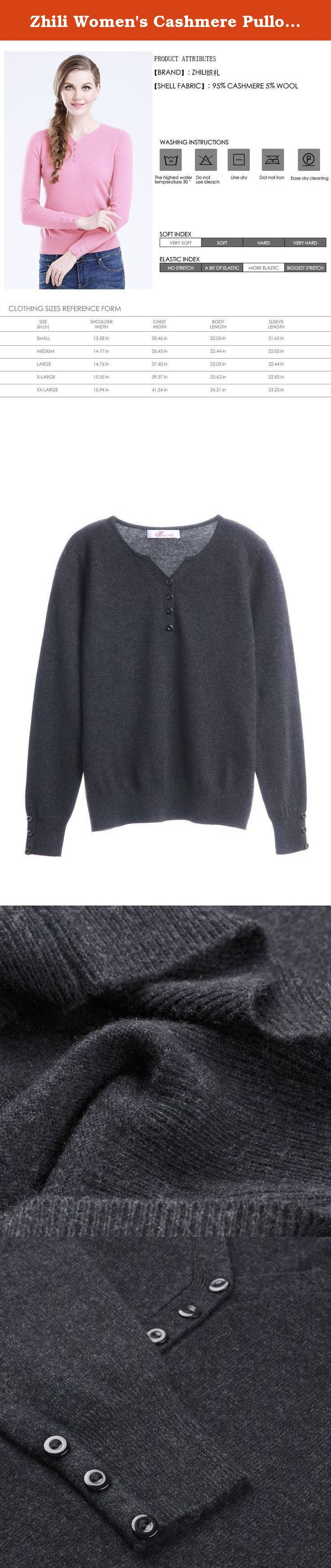 """Zhili Women's Cashmere Pullover Sweater (Medium, Dark grey). Our sweaters are made of fine cashmere. Luxurious, soft and really warm, our sweaters are made from the finest grade of cashmere wool. These sweaters are made from """"A-Grade""""pure cashmere yarn, and offer unsurpassed warmth and softness. 200 a variety of men and women's cashmere sweater, welcome to enter the shop to buy Note: only sales of cashmere sweaters, not including the inside collocation shirt and accessories."""