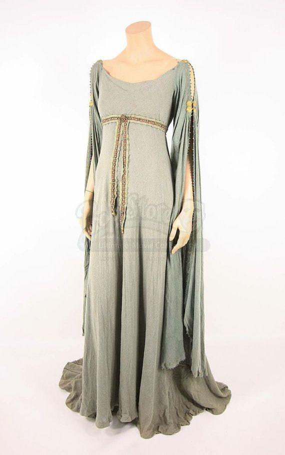 Guinevere Dress Keira Knightley Cosplay Fantasy Medieval Woodland LARP linen dress Elven Celtic Wedding Costume- Made to Order