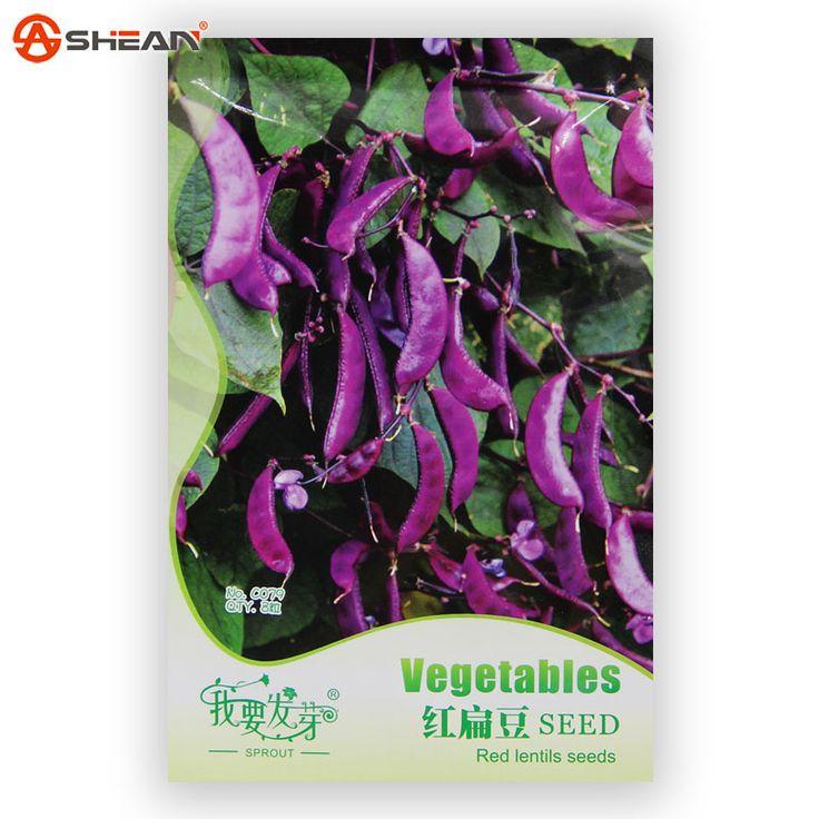 1 orijinal ambalajında 8 adet sümbül fasulyesi sebze tohumları, balkon saksı sebze tohumları kırmızı mercimek tohum(China (Mainland))