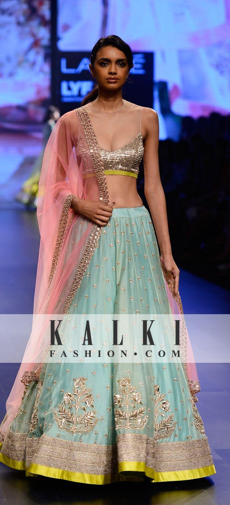 Sangeet lehenga or Garba outfit. Anushree Reddy Collection at Lakme Fashion Week 2016