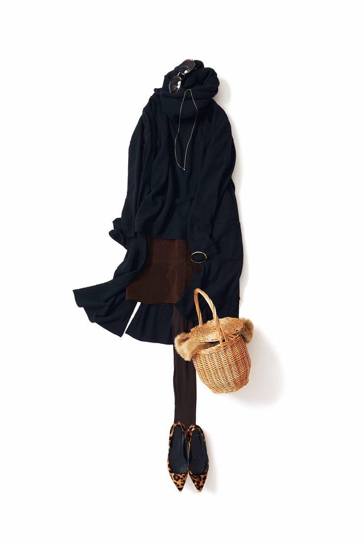 シックにキュートに ヒョウ柄 レオパード フラットシューズ パンプス バレエシューズ アニマル コーディネート コーデ outfit leopard flatshoes ballet pumps coordinate style styling