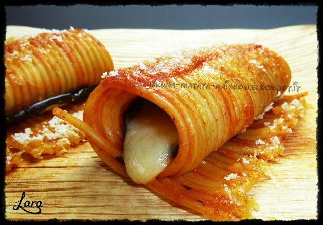 Anyone can cook...: Cannelloni di spaghetti alla parmigiana