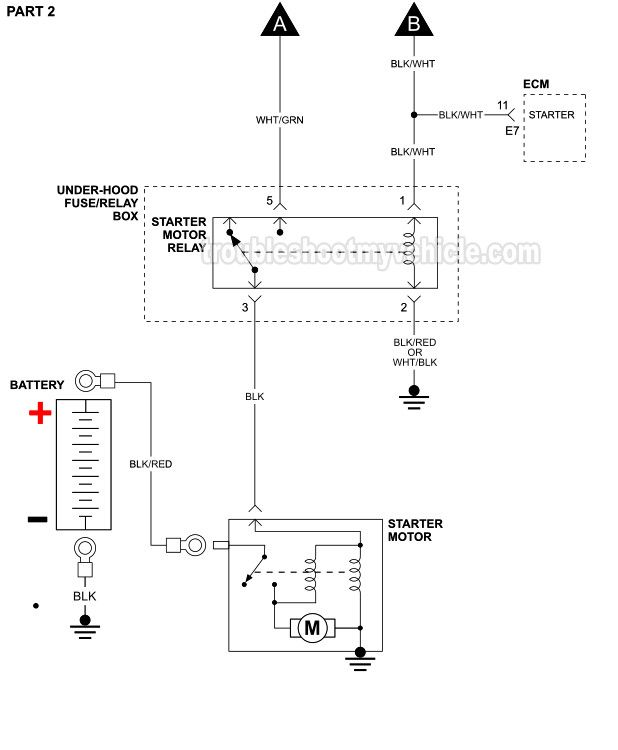 PART 2 -Starter Motor Circuit Wiring Diagram (1995 1.5L Toyota Tercel -With  Automatic Transmission) in 2020 | Starter motor, Toyota tercel, ToyotaPinterest