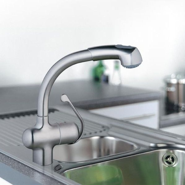 grohe 33759sd0 stainless steel ladylux plus pullout kitchen faucet