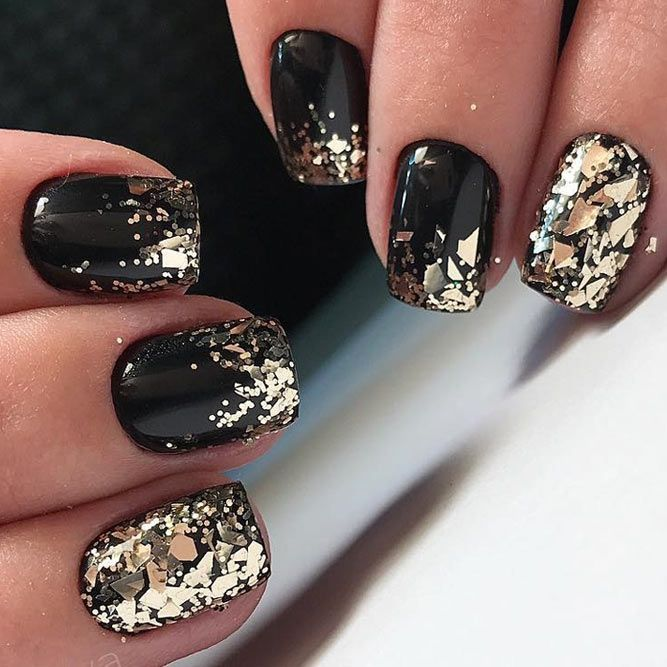 Top 24 Trendy Nail Designs For Short Nails Black Nail Designs Beautiful Nail Designs Gold Nail Designs