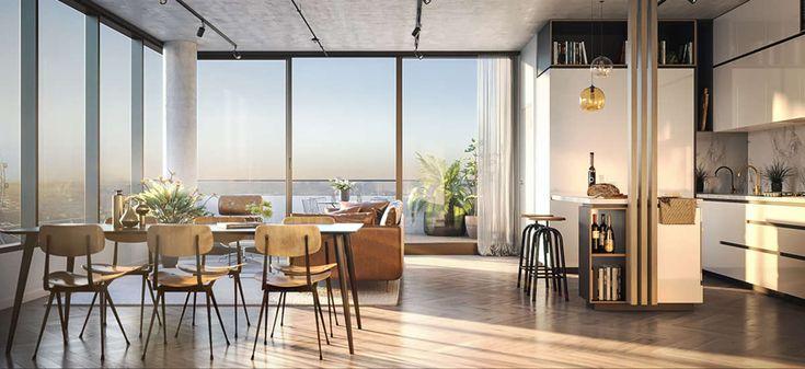 escala apartment development kitchen dining rooms