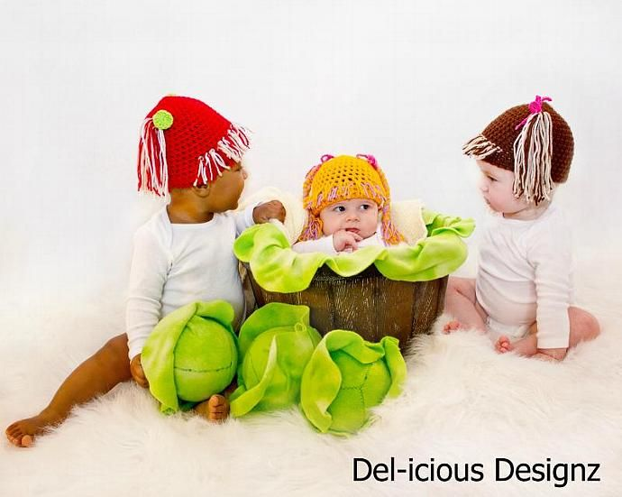 Cabbage Patch - Crochet Baby Hat MADE TO ORDER by DELiciousDesignz, $18.00 USD
