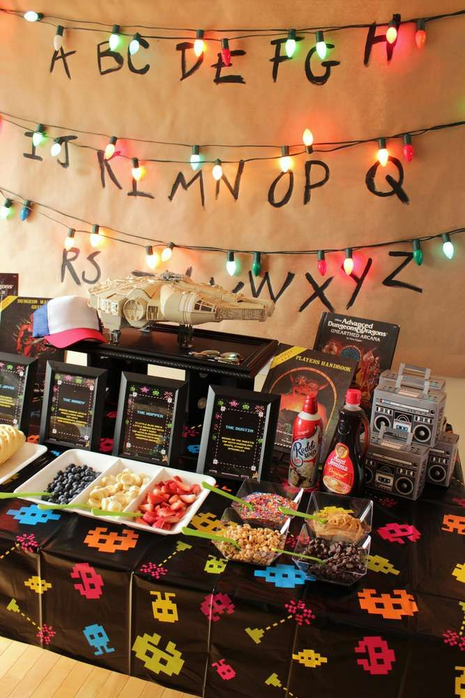 Stranger Things Halloween Party Ideas Photo 7 Of 10 Catch My Party Stranger Things Halloween Party Stranger Things Halloween Halloween Party Themes