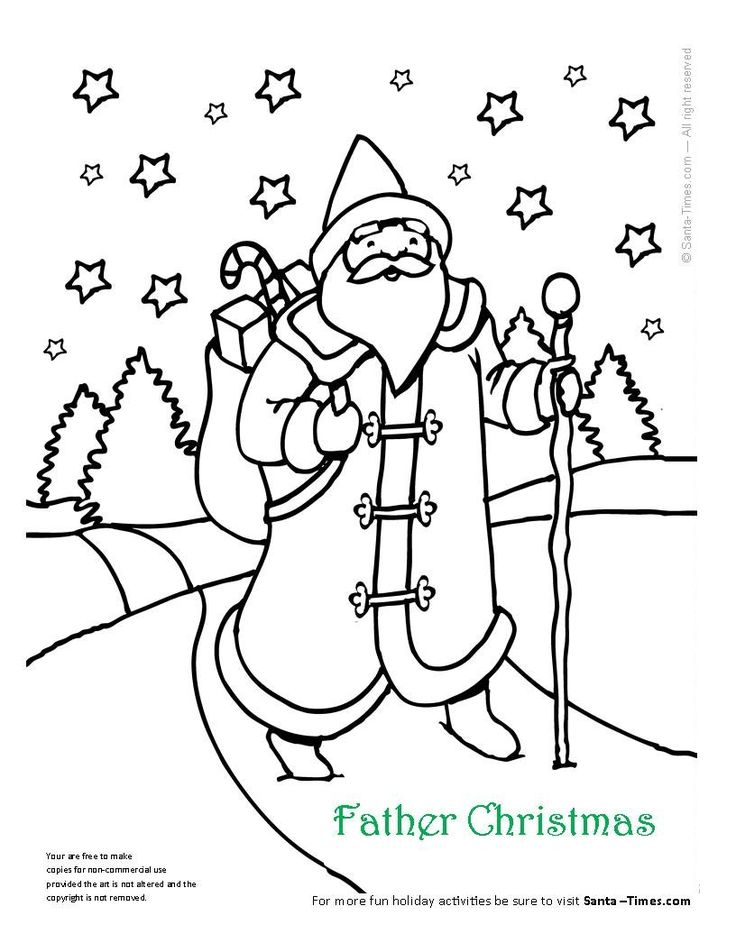Father Christmas Coloring Page More Pages At Santa T