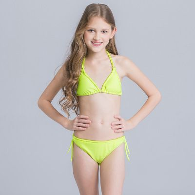 afd22a96d6f Halter Bikini Set Swimsuit Beach Wear Swimwear Children Tanga Sexy ...
