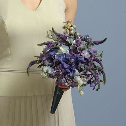 Wedding Blue Veronica and Delphinium Bouquet