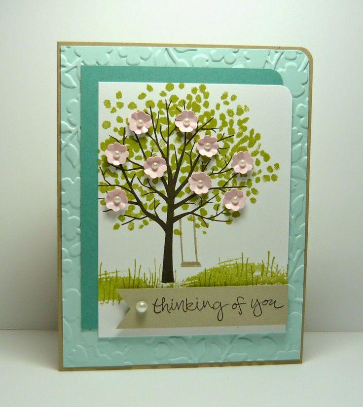 Мая, делаем открытку дерево