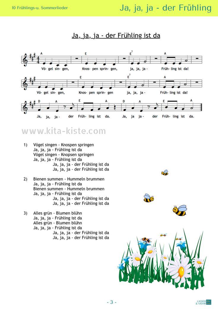 10 Noten / 10 Liedtexte – 2 Gedichte – Morgenkreis…