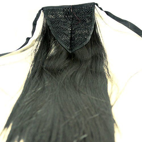 Ostart Black Women's Hair Piece Straight Long Tie Band Hair Extension Ponytail 55cm by Ostart. $5.99. Color: Black. Length: 55cm (21.6''). Qty: 1 set. Type: Ponytail. Texture: Straight. Hair care:the attached hair extension can be kept in good condition for about 3 months if treated in proper way, the following items need to be paid attention to:the comb must be the kind with round tips/ends and loose comb teeth, don't comb in a hard way to prevent the hair loss...