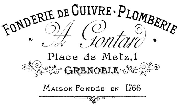 French Typography Transfer  //  The Graphics Fairy