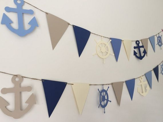 Nautical Banner  Nautical Photo Background  by HoneygoDesigns
