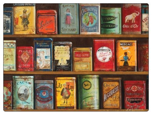 Las-pimpinelas-Vintage-Latas-Manteles-Individuales-Set-De-6