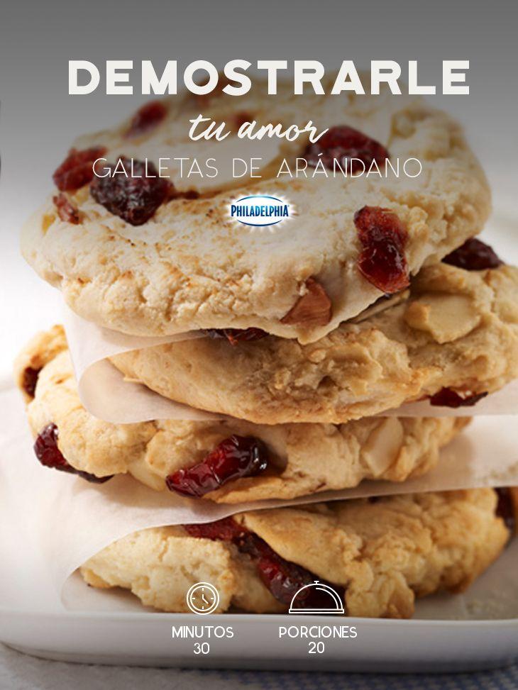 Con estas ricas galletas puedes consentir a tu familia. :D  #recetas #receta #quesophiladelphia #philadelphia #crema #quesocrema  #queso #galleta #arandanos
