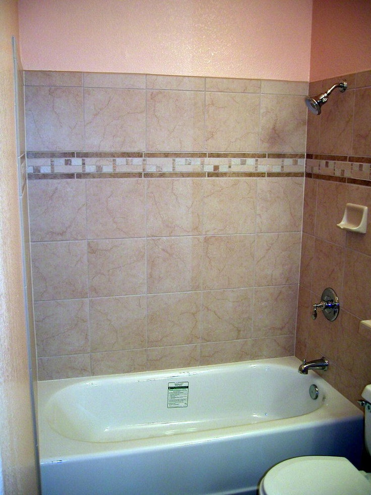12 X 12 Porcelain Tile With Border Bathroom Ideas