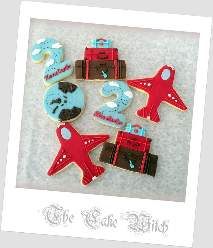 Vintage Travel Decorated Biscuits/Cookies