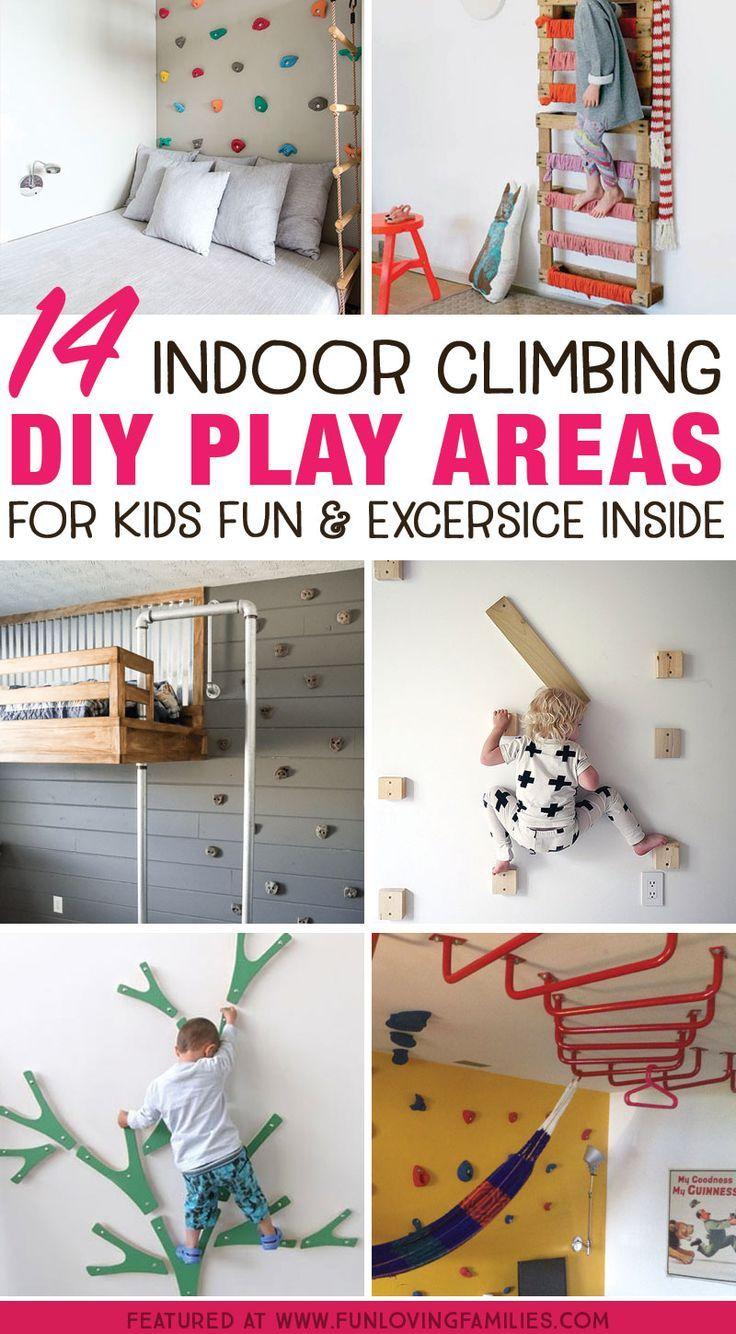 14 Genius DIY Climbing Spaces for Kids Indoor Play…