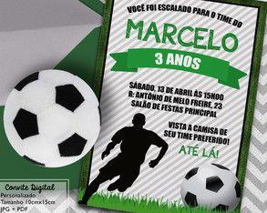 Convite Festa Futebol Digital