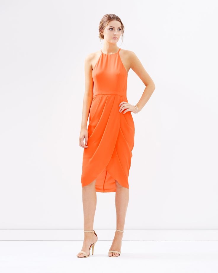Gia Dress in Neon Orange by Cooper St Online | THE ICONIC | Australia