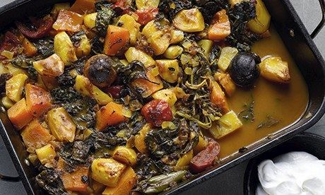 Yotam Ottolenghi's Iranian vegetable stew with dried lime: 'Sweet and sharp.' Photograph: Colin Campbell for the Guardian. Food styline: Cla...